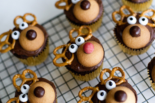 Rudolf Cupcakes! Awww