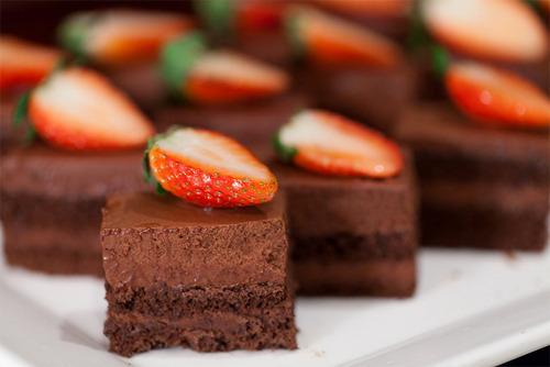 Strawberry, Cake, Chocolate