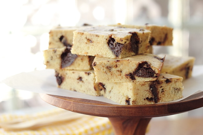Chocolate Chunk Coffee Cake Bars