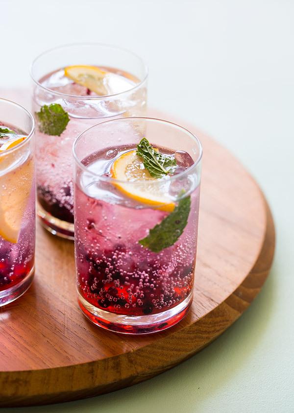 Blackberry & Meyer Lemon Gin & Tonics