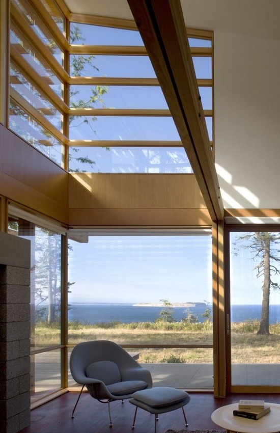 Reading Area At The Port Townsend Residence By Bohlin Cywinski Jackson