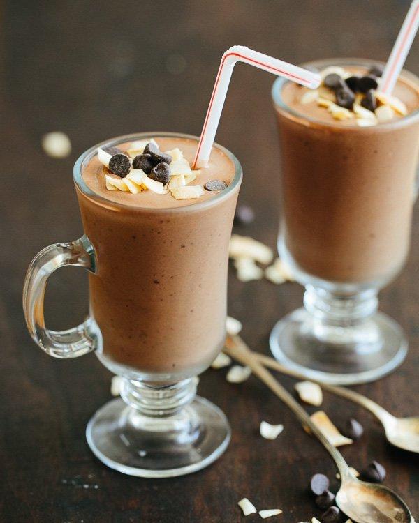 healthy chocolate milkshake