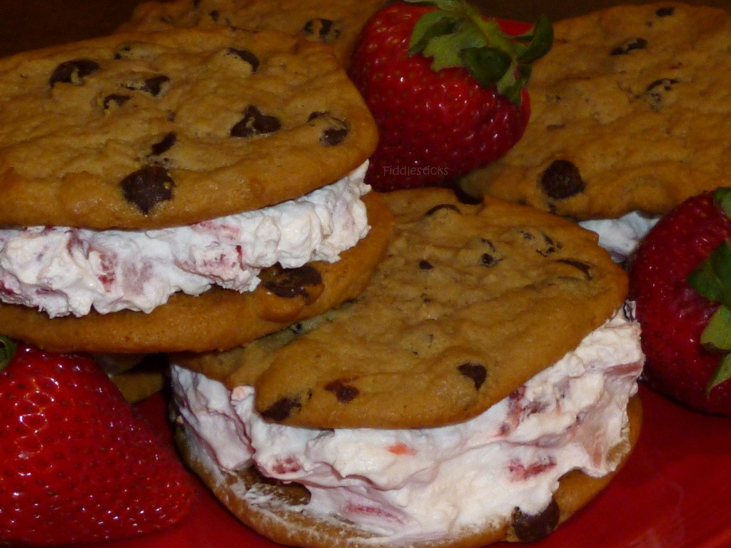 Ice Cream Chocolate Chip Cookie Sandwich