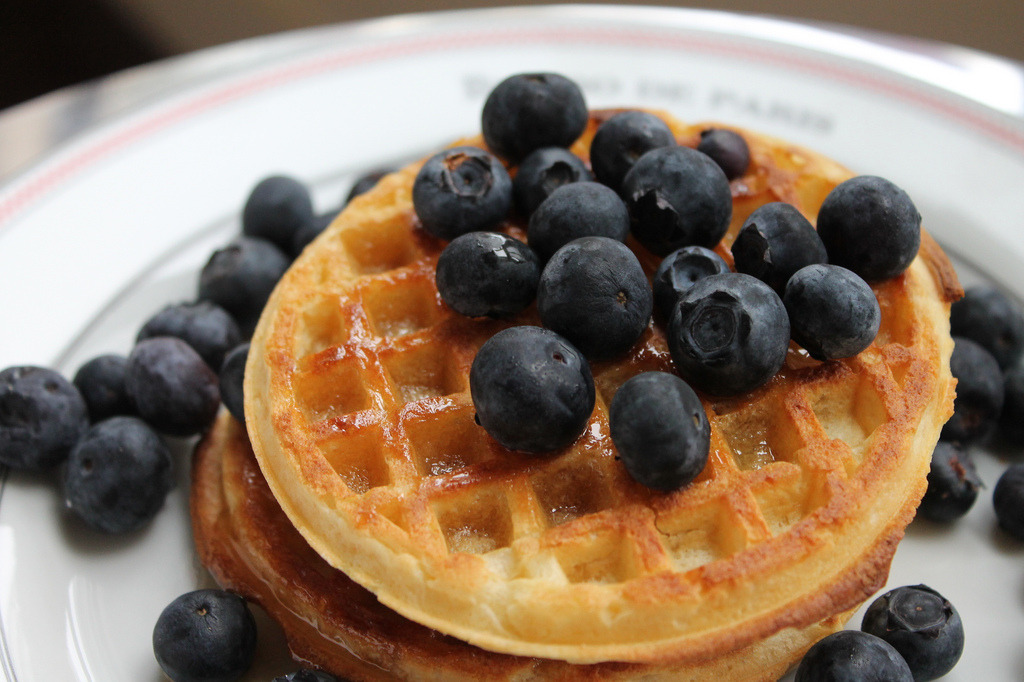 Waffles w/ Blueberries