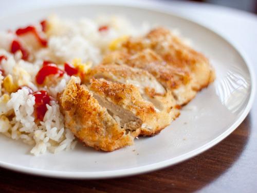 Cheese-Stuffed Chicken Katsu