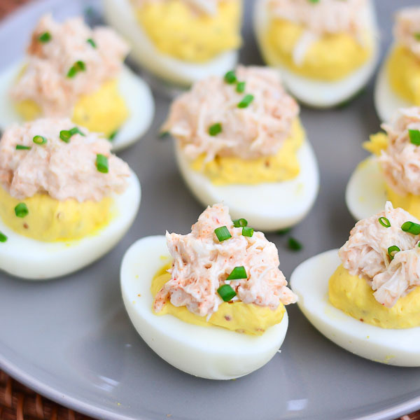 Chili Crab Devilled Eggs