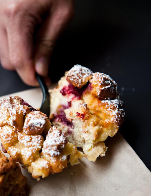 berry bread pudding at Sandbox Bakery