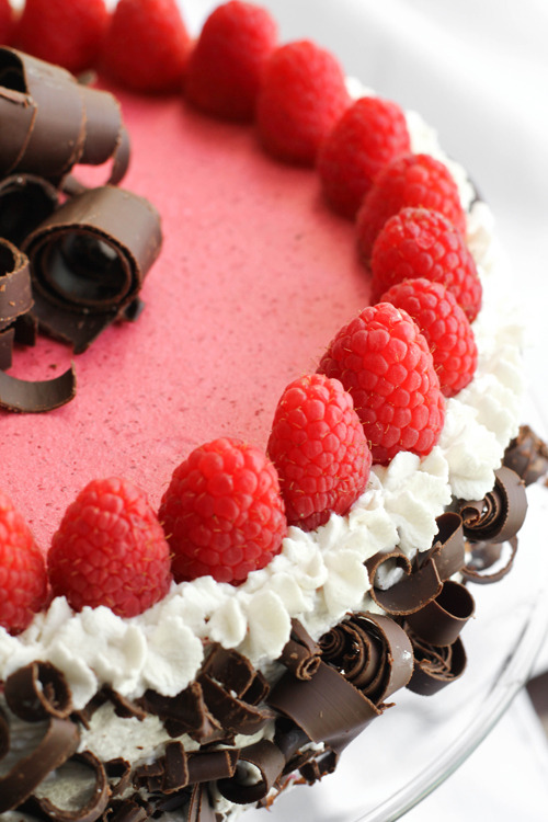 Chocolate-Raspberry Bavarian Torte
