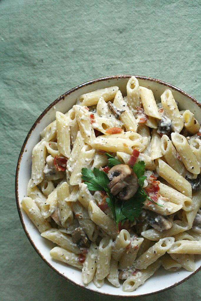 Recipe: Mushroom Carbonara Pasta