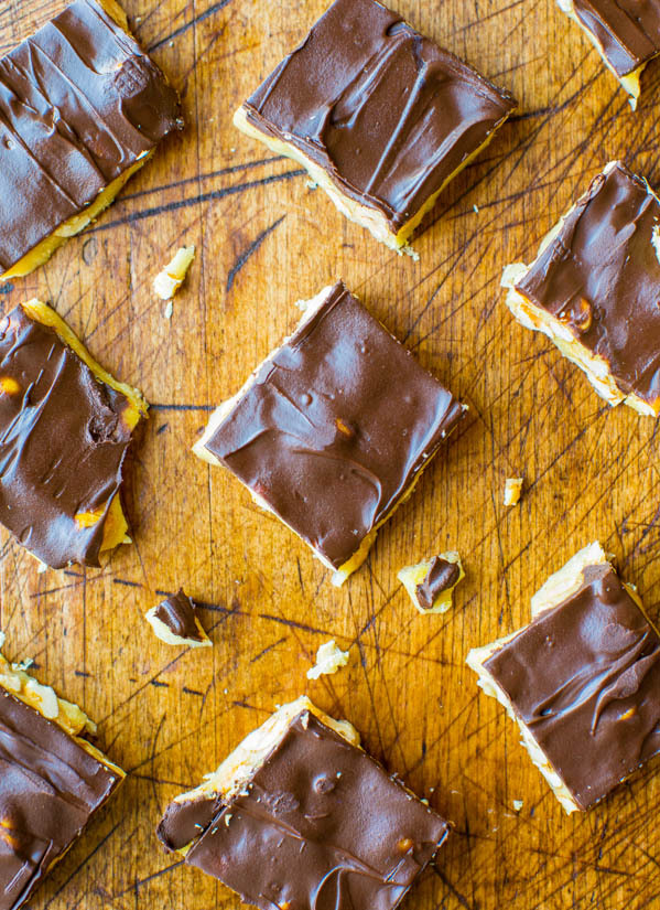 Chocolate Covered Microwave Peanut Brittle