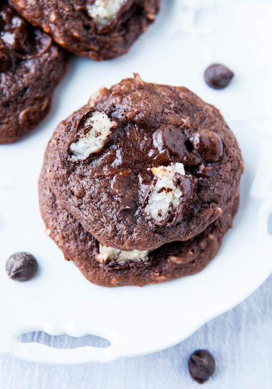 Mounds Bar Chocolate Coconut Cake Mix Cookies