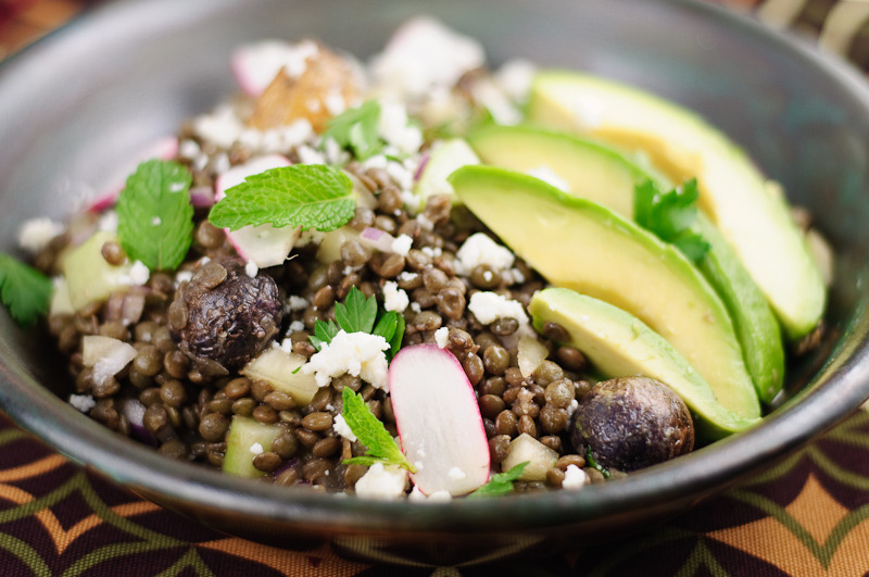 Latin American French Lentil Salad