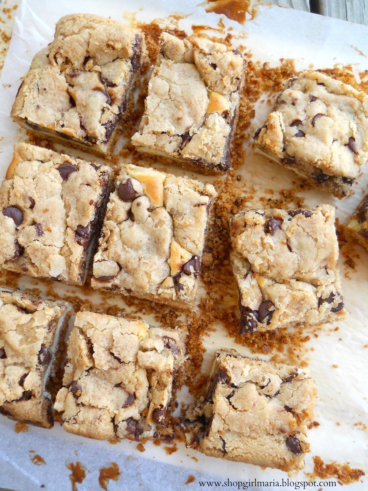 Recipe: Chocolate Chip Cookie Dough Cheesecake Bars