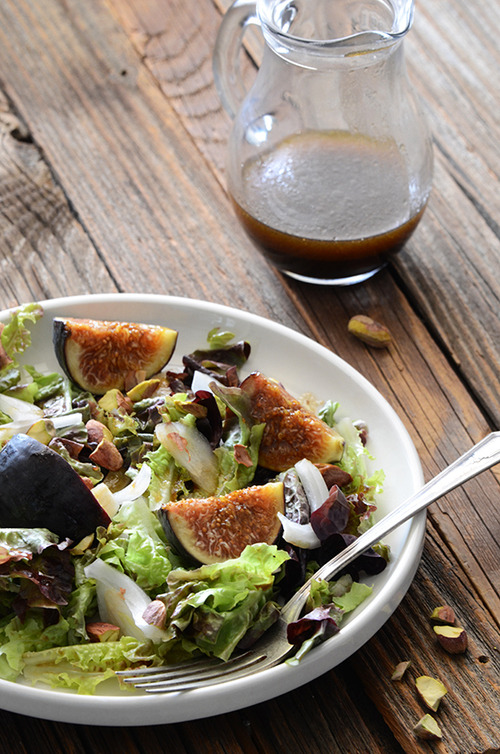 Fresh Fig Pistachio Salad with Pomegranate Dressing An Edible Mosaic