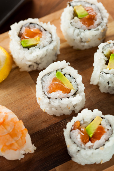 Salmon Maki RollsBrent Hofacker Photography
