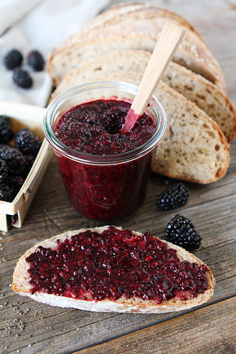 Blackberry Chia Seed Jam Two Peas in their Pod on We Heart It.