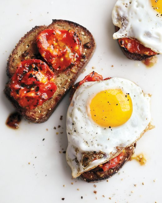 Eggs, Tomato, Bruschetta