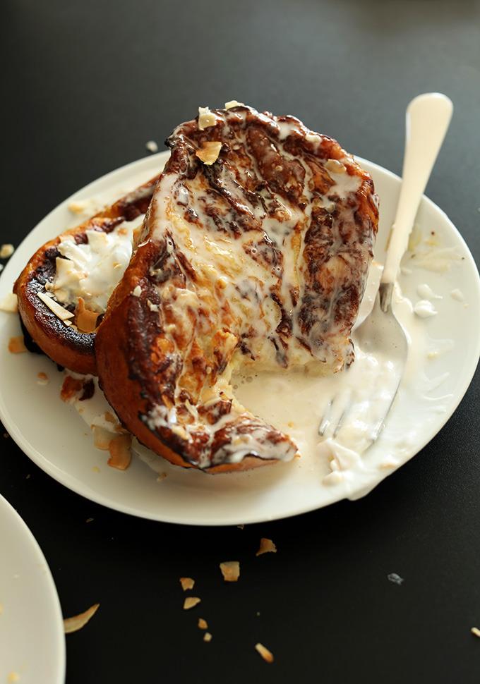 Coconut Cream Pie French Toast (Minimalist Baker)