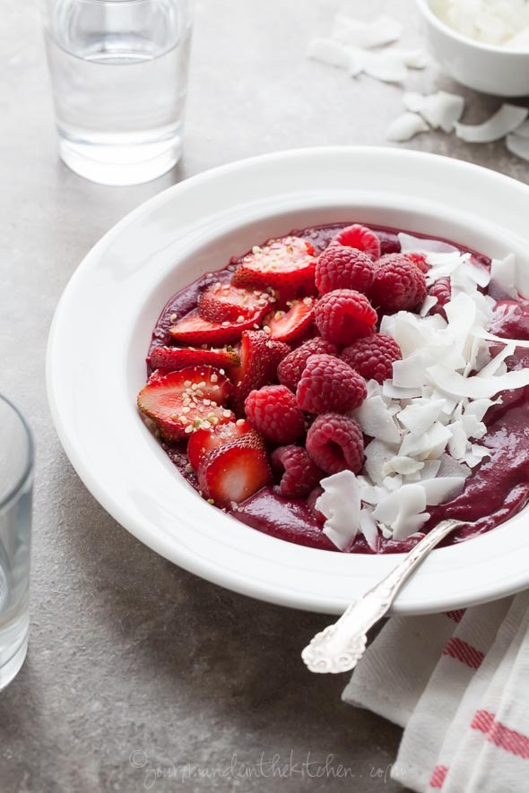 Berry Beet Acai Breakfast Bowl (GF)
