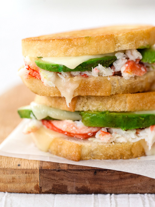 crab & avocado grilled cheese