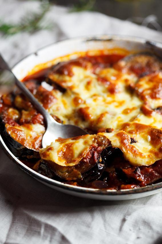 Parmigiana di Melanzane with Mushrooms