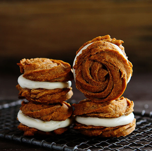 Pumpkin Rose Cookies