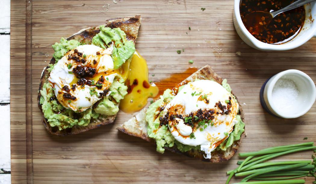 Avocado & Egg Toast with Aleppo Pepper Oil