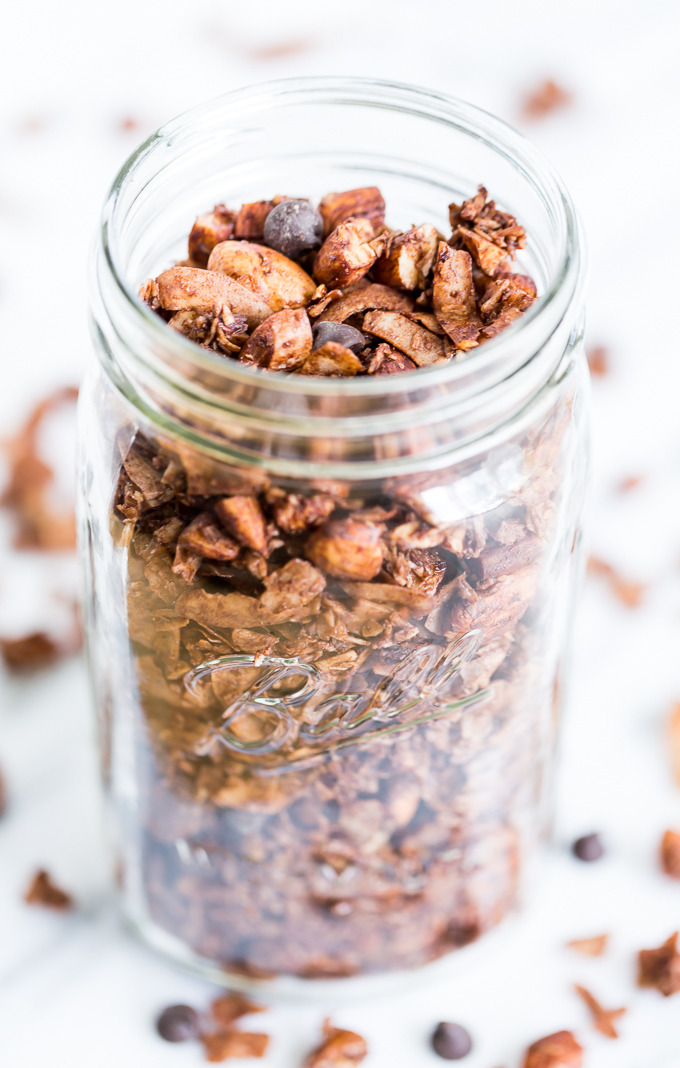 Chocolate Almond Coconut Granola