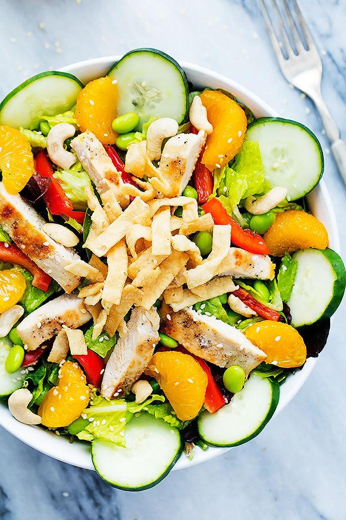 Asian citrus chicken salad